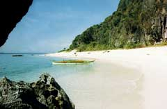 "Malajon Island, also known as ""Black Island"""