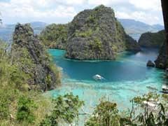 The Blue Lagoon serves as an entrance to the Cayangan Lake on Coron Island