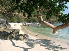 One of numerous beaches on Coron Island