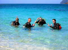 Learn how to dive with professional instructors