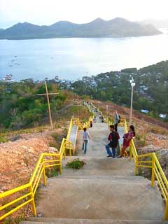 The stairs leading to the peak of Mt. Tapyas