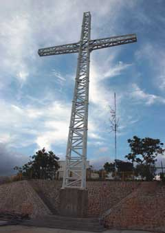 The cross on Mt. Tapyas
